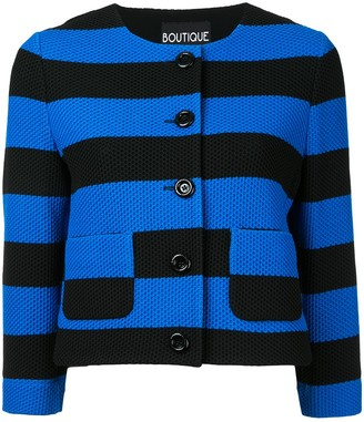 Boutique Moschino Stripe Cropped Jacket