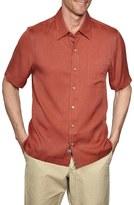 Nat Nast Men's Regular Fit Diamond Textured Sport Shirt
