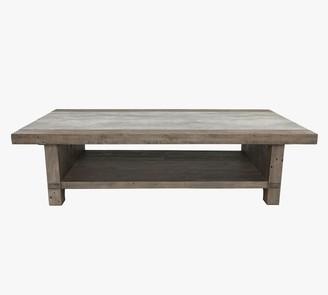 "Pottery Barn Gordon 66"" Rectangular Reclaimed Wood Coffee Table"