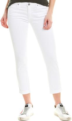 AG Jeans Prima White Cigarette Roll-Up