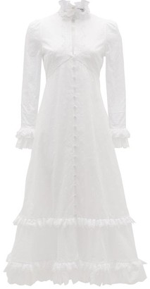 Erdem Miguella Cotton Broderie-anglaise Midi Dress - Womens - White