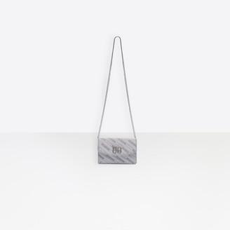 Balenciaga BB Wallet On Chain Glitter