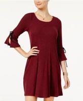 BCX Juniors' Bell-Sleeve Sweater Dress
