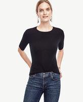 Ann Taylor Merino Wool Short Sleeve Sweater