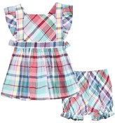 Ralph Lauren Multi Plaid Top and Bloomers Set