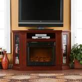 Southern Enterprises Abbey Cherry Finish Convertible Media Console Electric Fireplace