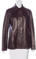 Jil Sander Long Sleeve Leather Jacket