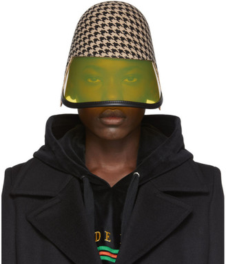 Gucci Beige and Black Felt Visor Hat