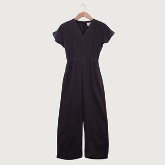 Folk Wrap Jumpsuit Soft Black - 1