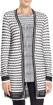 St. John Graphic Knit Cardigan