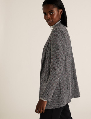 Marks and Spencer Jersey Relaxed Textured Blazer