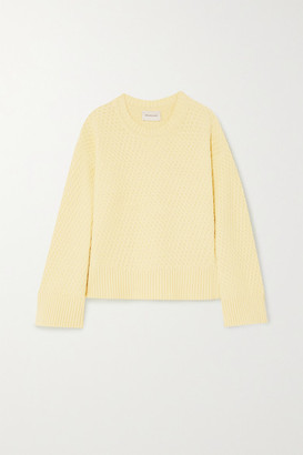 HOLZWEILER Brunost Waffle-knit Cotton Sweater - Yellow