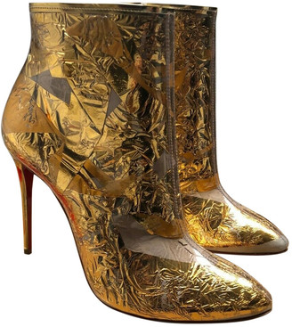 Christian Louboutin Gold Plastic Ankle boots