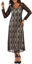 24/7 Comfort Apparel Crisscross Maxi Dress