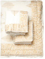 Melange Home Leaf Voile Cotton Quilt Set