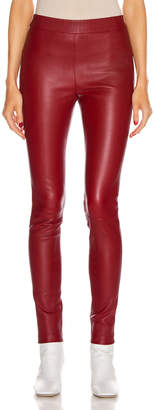 Helmut Lang Leather Legging in Lava   FWRD