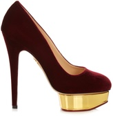 Charlotte Olympia Dolly velvet pumps
