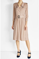 Burberry Mulberry Silk Trench Coat