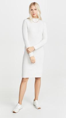 Vince Ribbed Long Sleeve Dress
