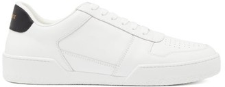 Versace Ilus Leather Trainers - White Black
