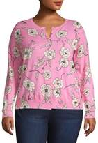 Lord & Taylor Plus Essential Floral Cardigan