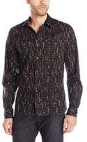 J. Lindeberg Men's Dani Falling Stars Button-Down Shirt