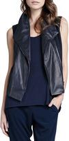 Vince Leather Asymmetric Vest