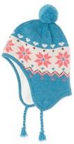 Petit Bateau Girls Peruvian beanie cap with jacquard pattern