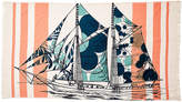 Thomas Paul Dazzle Ship Banya Bath Towel - Orange/Aqua