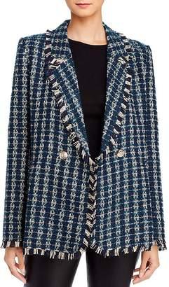 Aqua Plaid Tweed Double-Breasted Blazer - 100% Exclusive