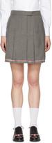 Thom Browne Grey Pleated Miniskirt
