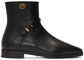 Gucci Black Double G Rosie Boots