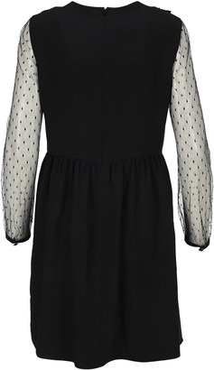 RED Valentino Lace Sleeve Mini Dress