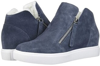 Steve Madden Caliber-F Wedge Sneaker (Grey Suede) Women's Shoes