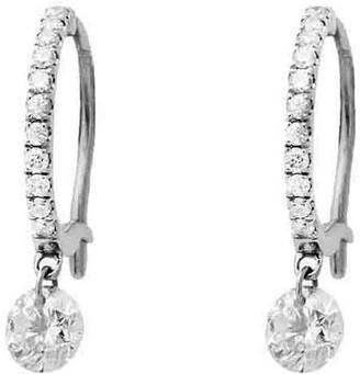 Raphaele Canot Set Free Diamond Mini Hoop Earrings - White Gold