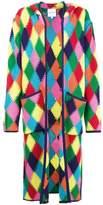 Mira Mikati Long Rainbow Diamond Crochet Cardigan