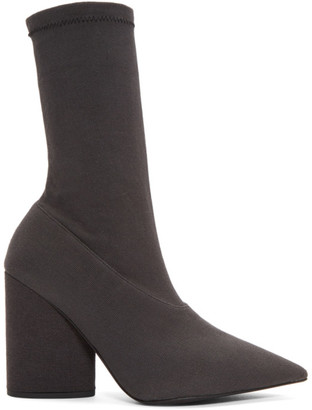 Yeezy Black Stretch Ankle Boots