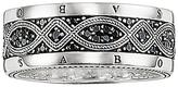 Thomas Sabo Men's Rebel At Heart Love Knot Sterling Silver Black Zirconia Pavé Ring, Silver/Black