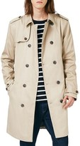 Topman Men's Double Breasted Trench Coat