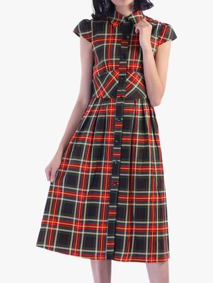 Jolie Moi Check Print Shirt Dress
