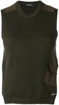 DSQUARED2 rib knit sleeveless top - women - Cotton/Spandex/Elastane/Wool - XS