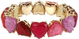Betsey Johnson Not Your Babe Ombre Heart Bracelet