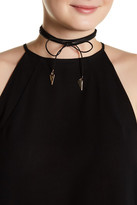 Stephan & Co Imitation Suede Wrap Around Bolo Choker