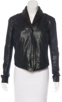 Veda Leather Shearling Jacket