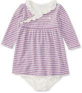 Ralph Lauren Striped Velour Dress & Bloomer