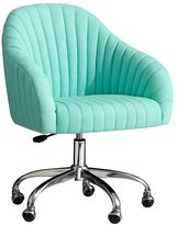 Soho Desk Chair, Pool Linen Blend