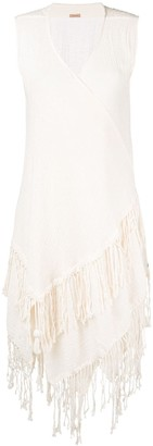 CARAVANA Fringed Sleeveless Open Vest