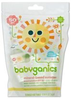 BabyGanics 12-Pack Single-Use 50+SPF Mineral-Based Sunscreen Tubes