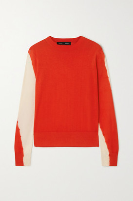 Proenza Schouler Tie-dyed Cotton-blend Sweater - Red