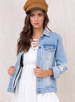 MinkPink New Women's Trashly Denim Jacket